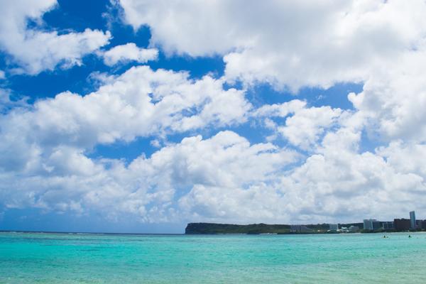 グアムの海と空