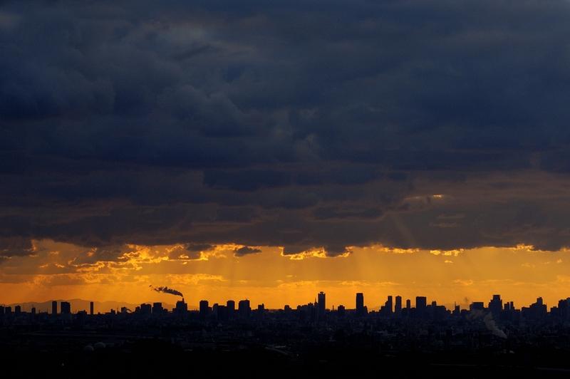 交野山からの夕景