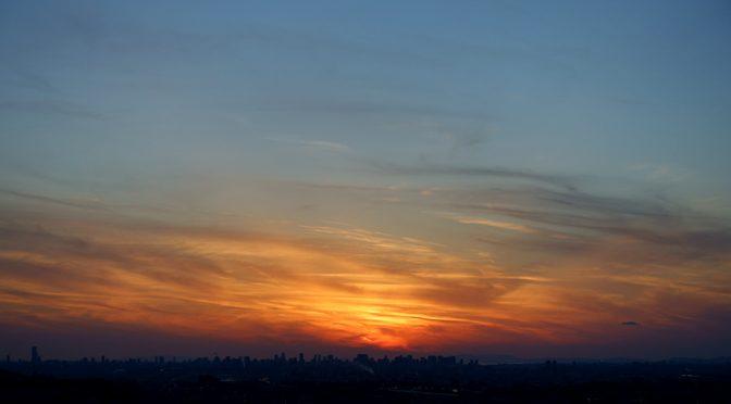 聖夜の夕陽