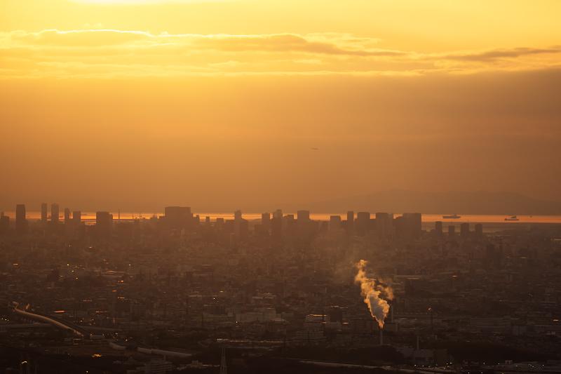 交野山山頂からの夕景