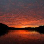 山田池の朝焼け
